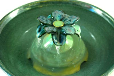 green lotus cat water fountain