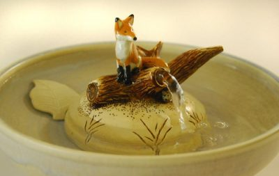 fox cat fountain