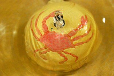crab cat water fountain