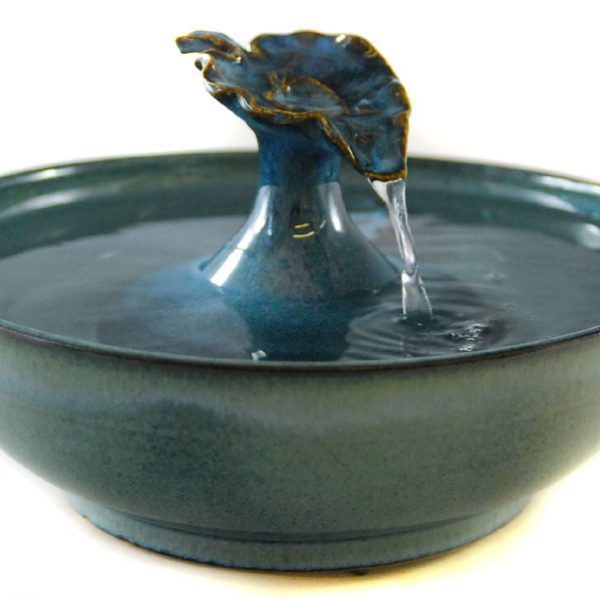 ceramic cat fountain