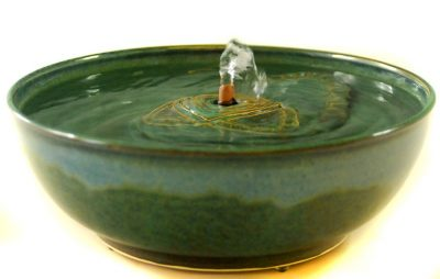 ceramic cat water fountain