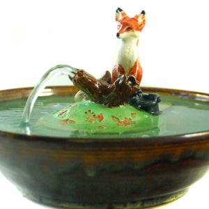 fox sculpture fountain